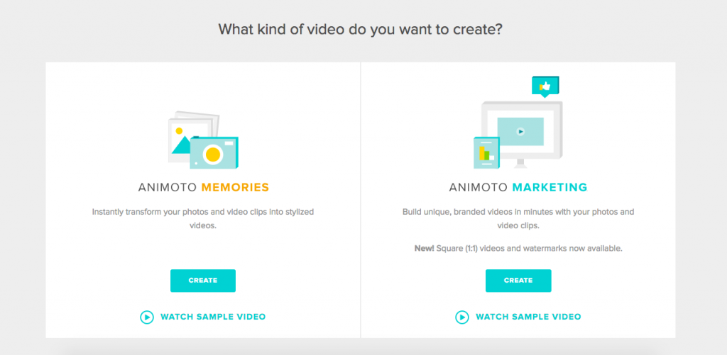 animoto create video step one